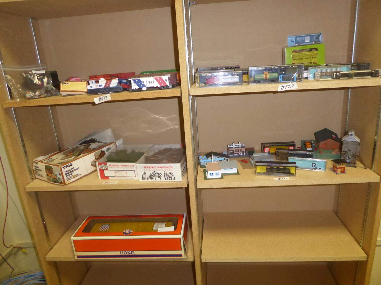 Lot # 172 - Toy Trains, Track, Figures, Villages & Power Pack (main image)