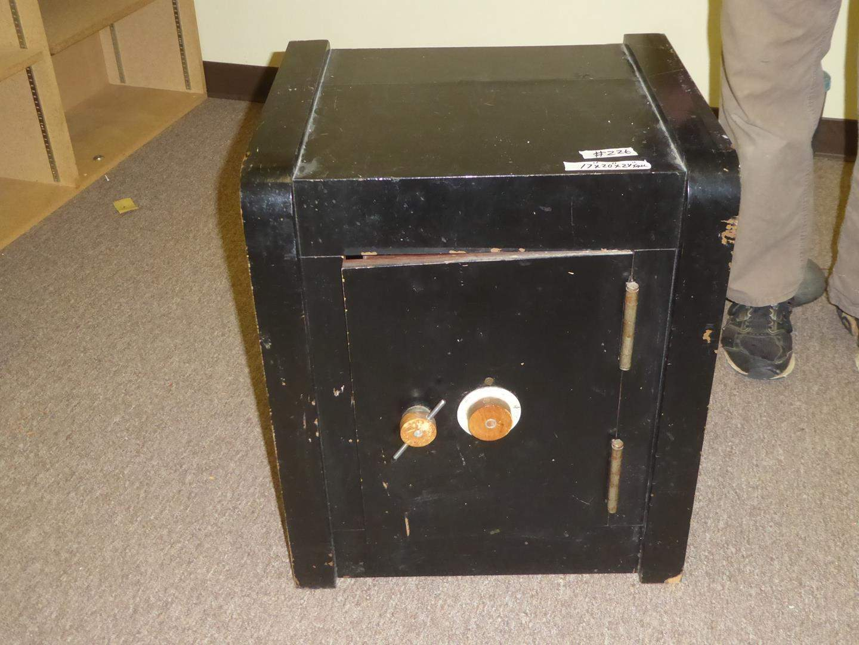 Lot # 226 - Vintage Hand Made Wood Faux Safe (main image)