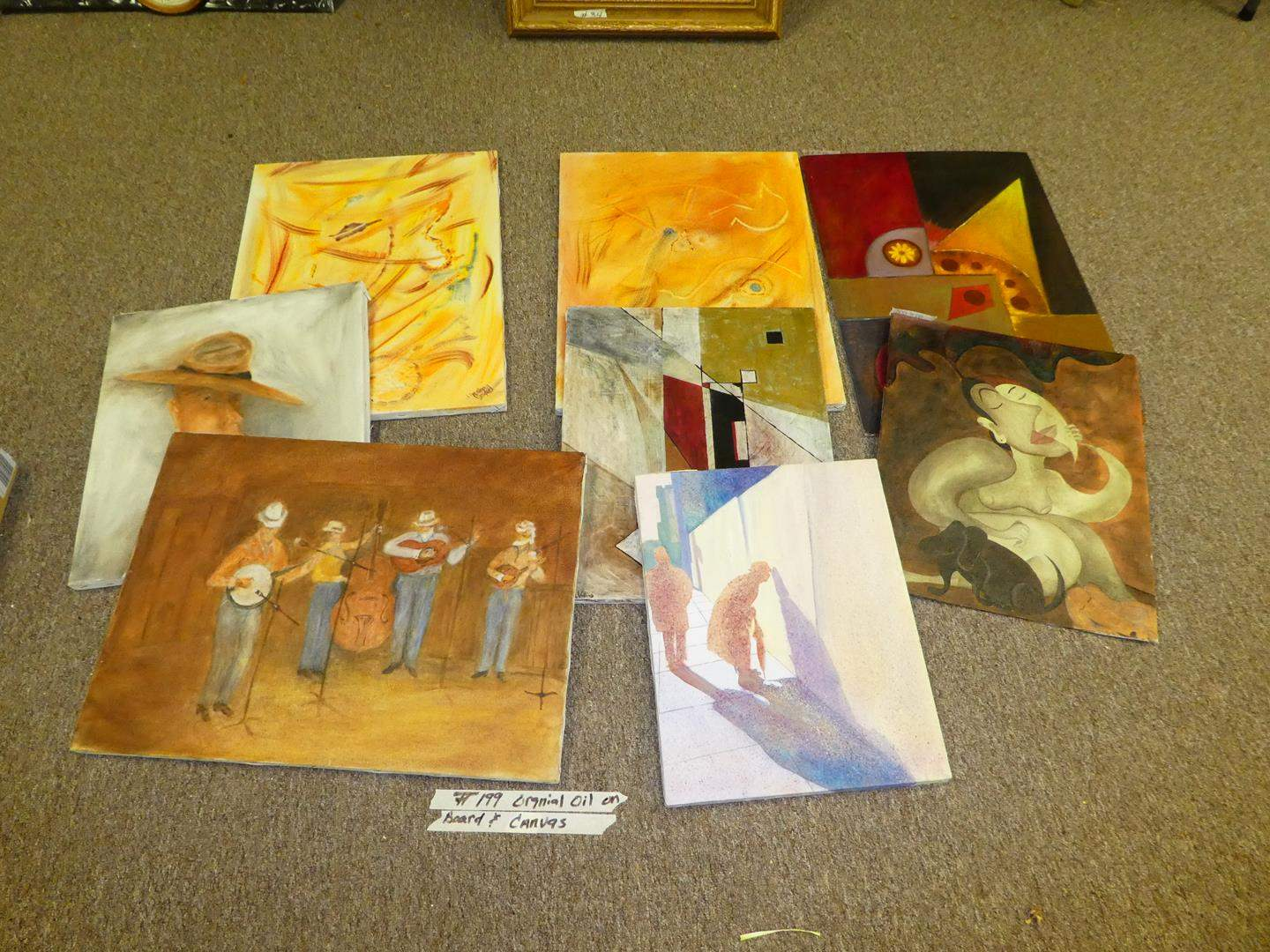 Lot # 199 - Art Work - Group of Oil on Canvas & Oil on Board (main image)