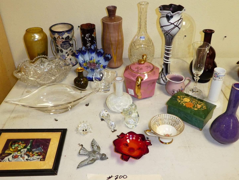 Lot # 200 - Vintage Glass & Pottery (main image)