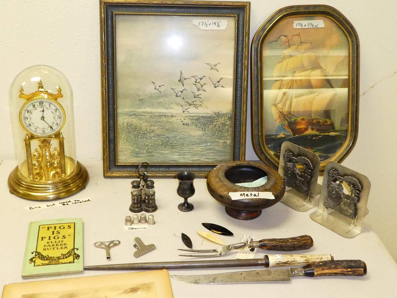 Lot # 203 - Vintage Prints, Clock & Misc Collectibles (main image)