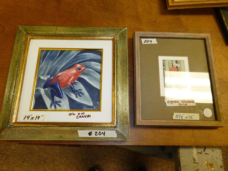 Lot # 204 - Framed Signed Numbered Print & Framed Oil on Canvas (main image)