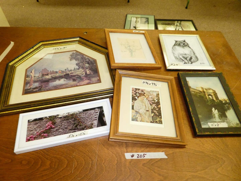 Lot # 205 - 6 Framed Prints (main image)