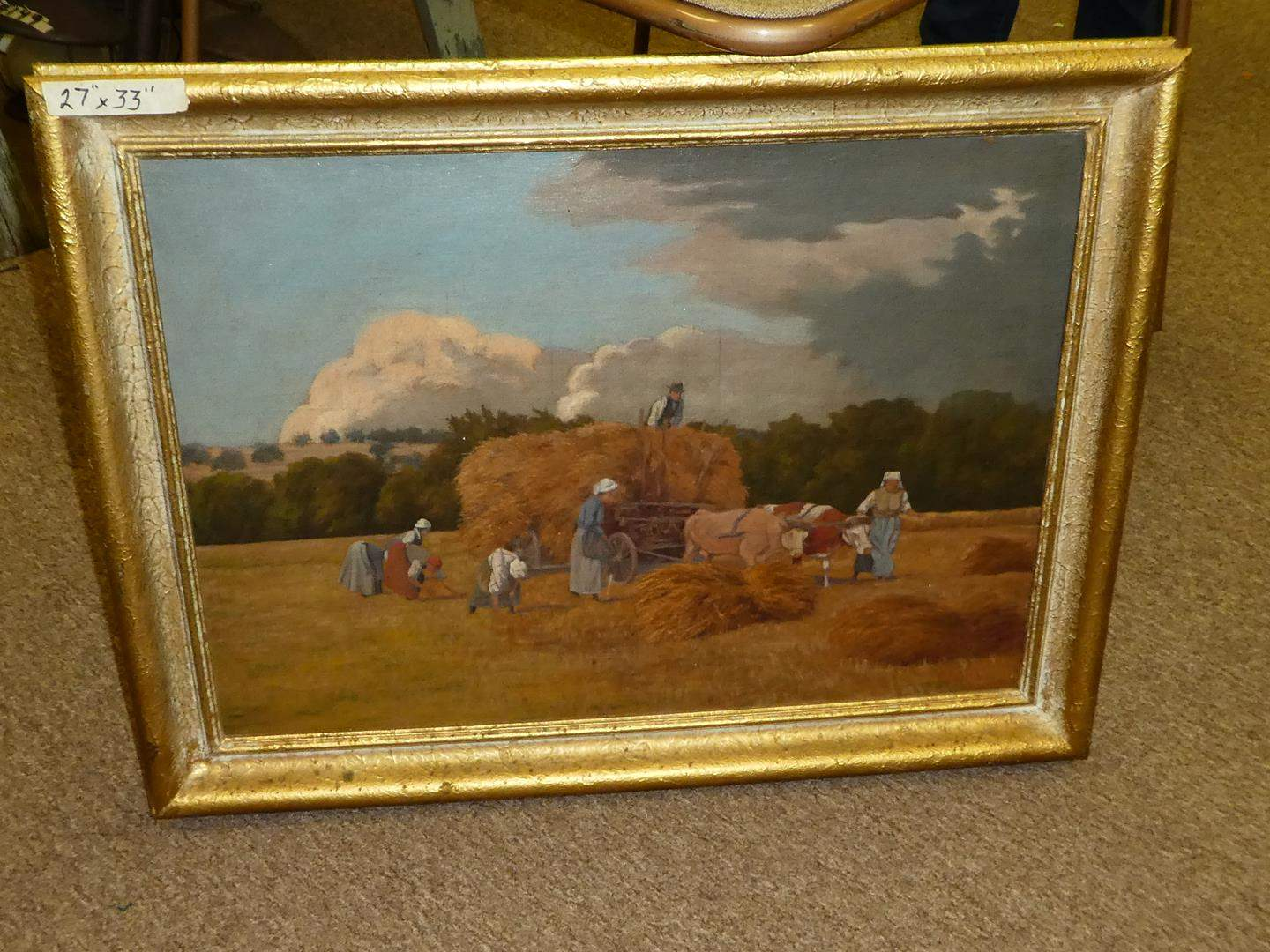 Lot # 207 - Large Oil on Board  (main image)