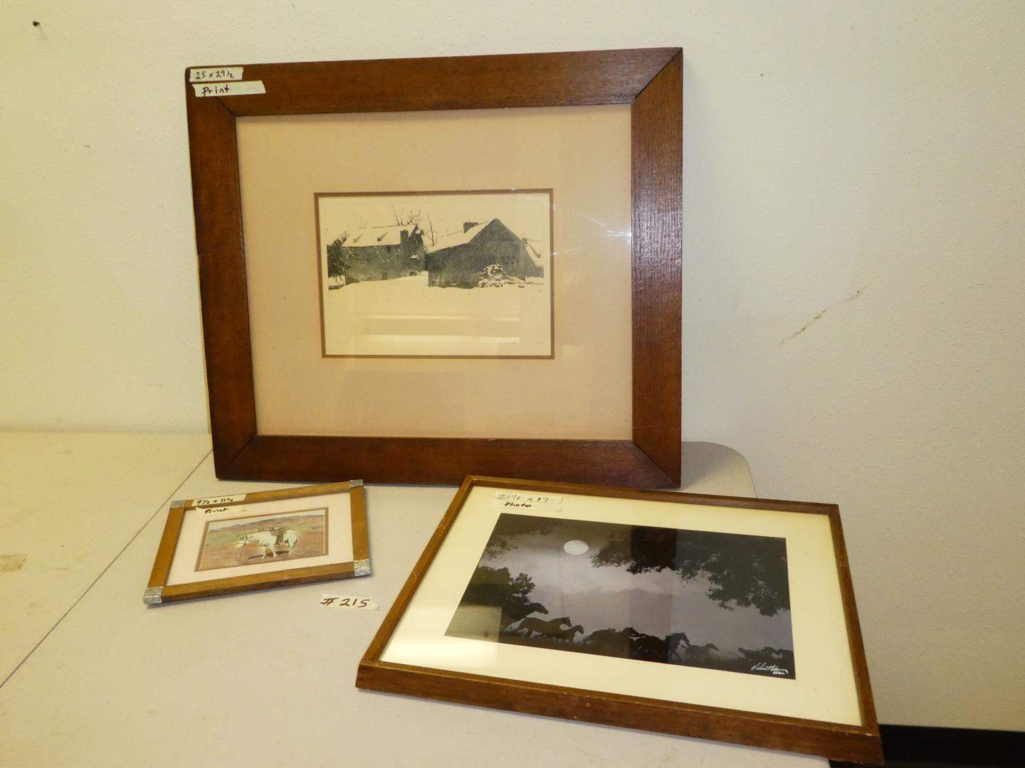 Lot # 215 - Framed Vintage Prints & Photos (main image)