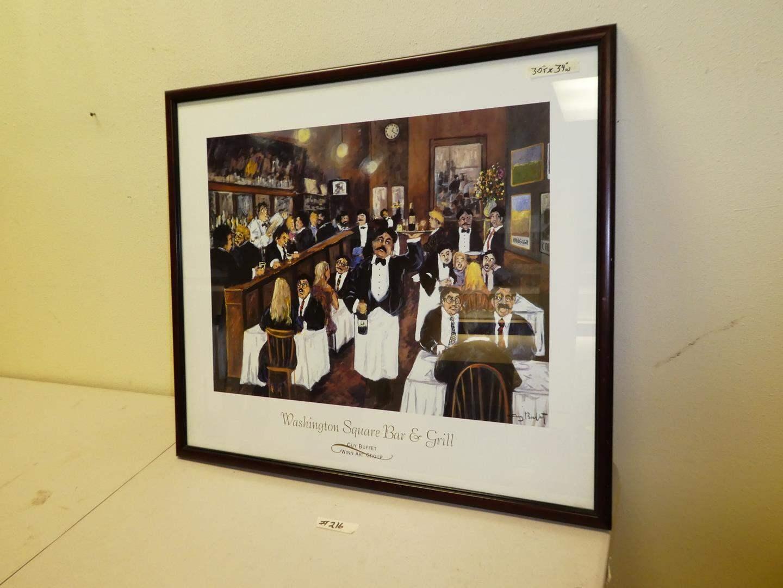 Lot # 216 - Washington Square Bar & Grill Framed Print  (main image)