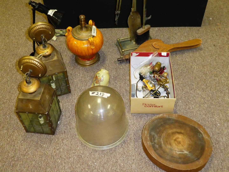 Lot # 218 - Fireplace Tools & Lighting (main image)