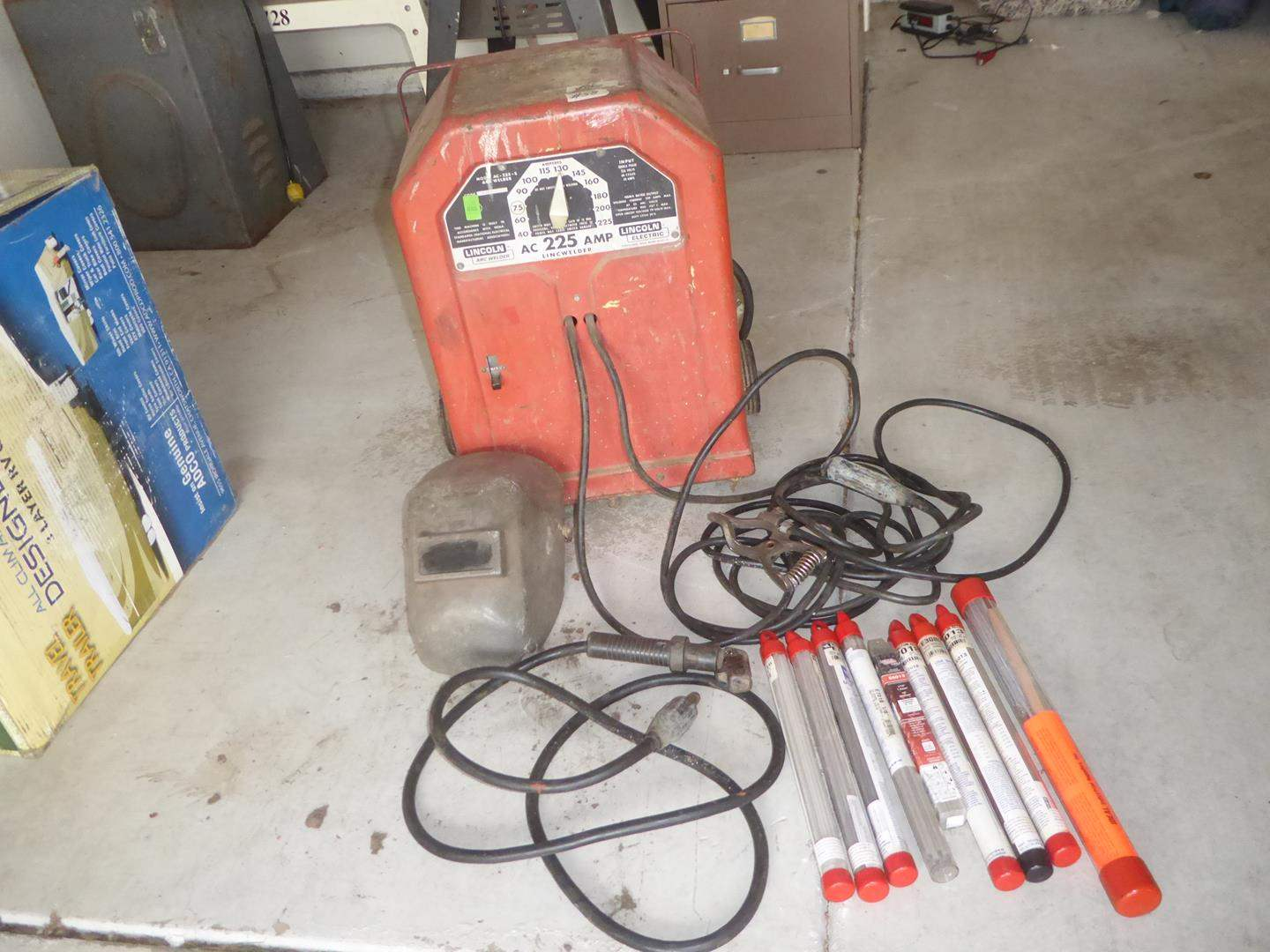 Lot # 58 - 'Lincoln' Arc Welder & Welding Rods (main image)