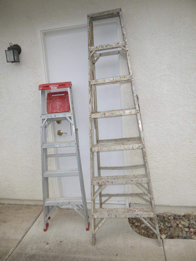 Lot # 83 - 'Werner' 5' Ladder & 7' Ladder (main image)