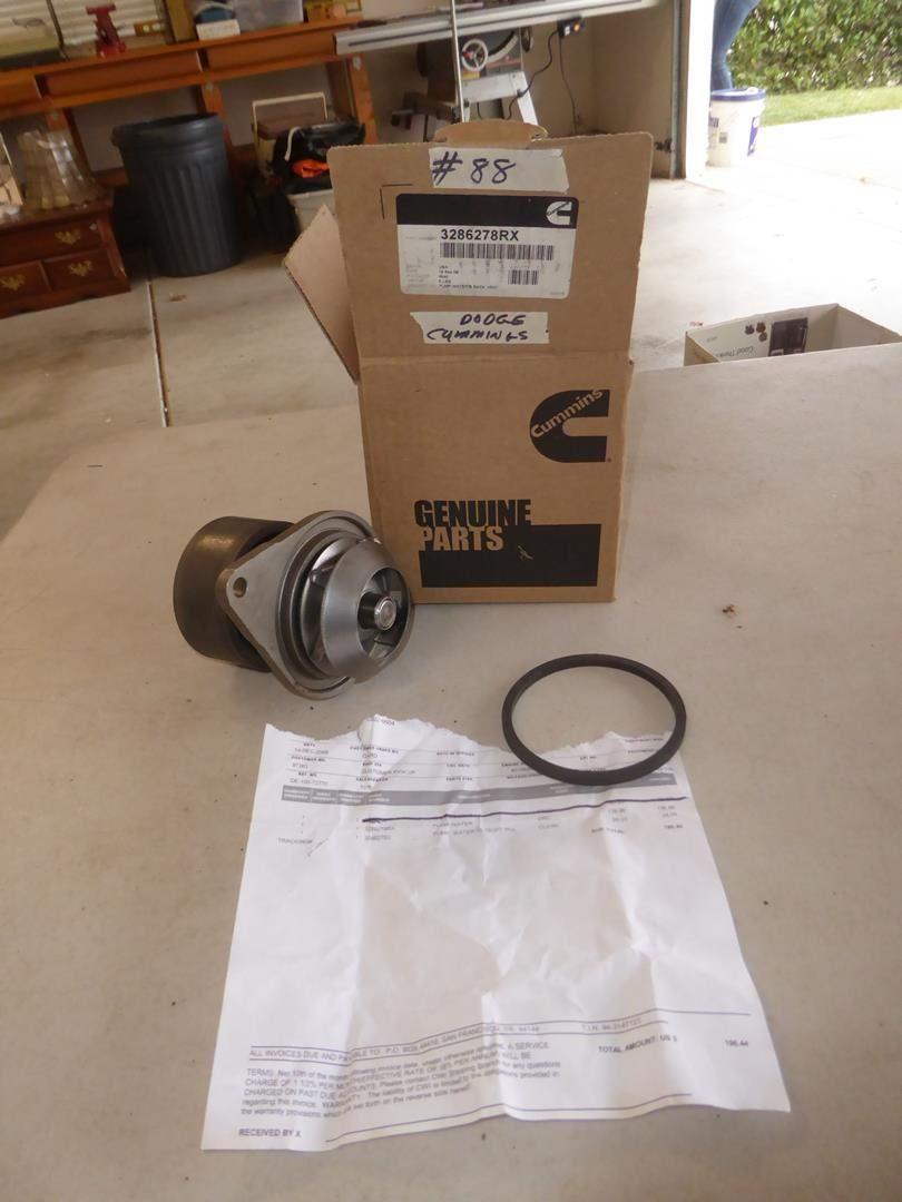 Lot # 88 - Dodge Cummings Water Pump (NIB) (main image)