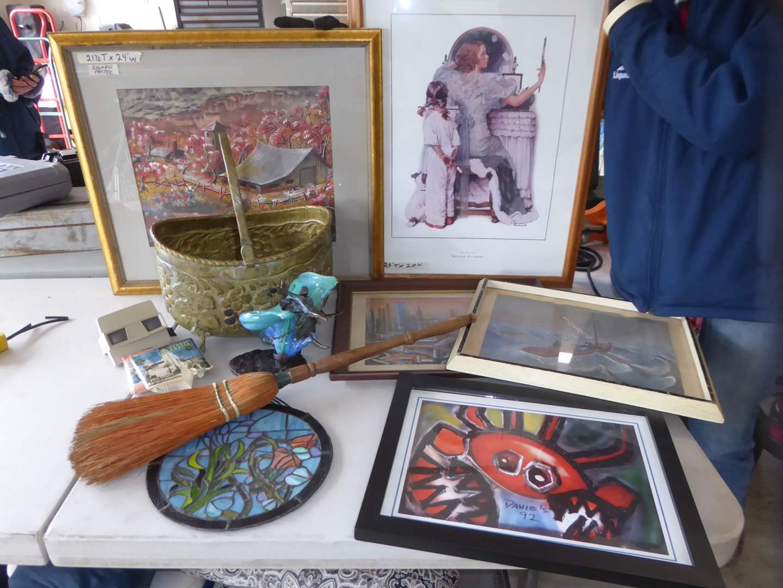 Lot # 11 - Framed Prints & Original Pastels, Glass & Brass Sculpture & Other Home Decor  (main image)