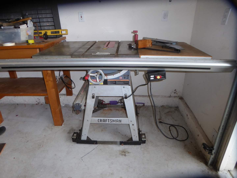 Lot # 13 - Craftsman Table Saw  (main image)