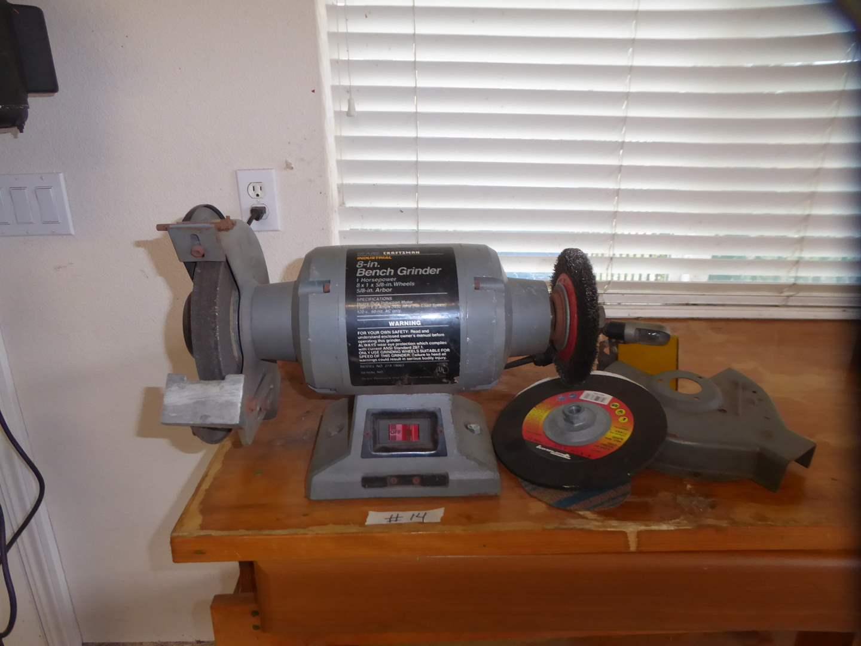 Lot # 14 - Sears Craftsman Bench Grinder  (main image)
