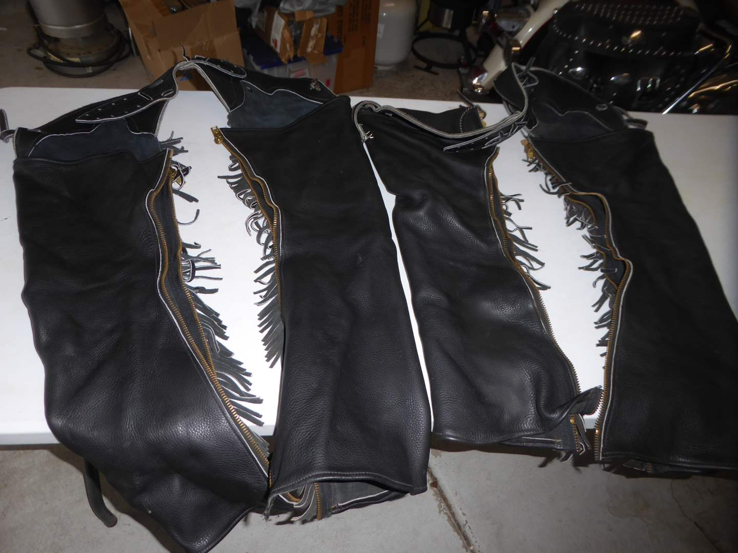 Lot # 27 - Two Pairs Of Leather Chaps  (main image)