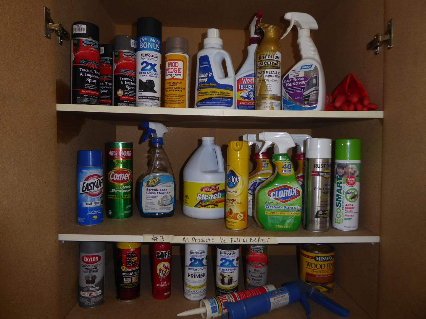 Lot # 3 - Household & Garage Products (Half Full or Better) (main image)
