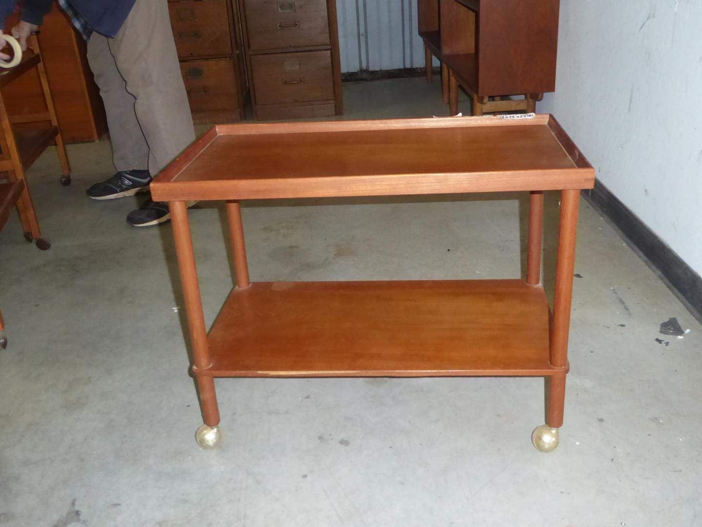 Lot # 54 - Vintage Mid Century Danish Teak Bar Cart (main image)