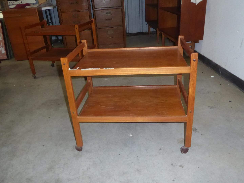 Lot # 55 - Vintage Mid Century Danish Teak Bar Cart BRDR. Furbo (main image)