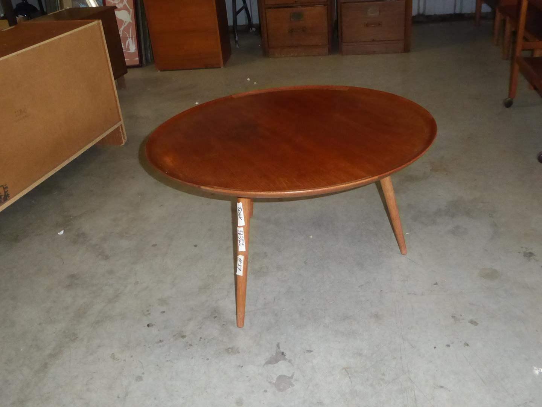 Lot # 59 - Vintage Mid Century Danish Teak Round Coffee Table (main image)