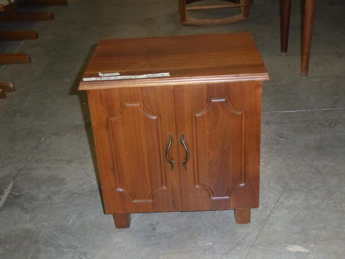 Lot # 75 - Vintage Wooden Sewing Cabinet (main image)