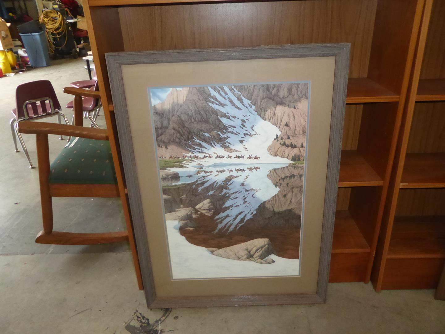 "Lot # 81 - Framed Signed Numbered Bev Doolittle Print ""Season of the Eagle"" 21311 / 36548 (main image)"