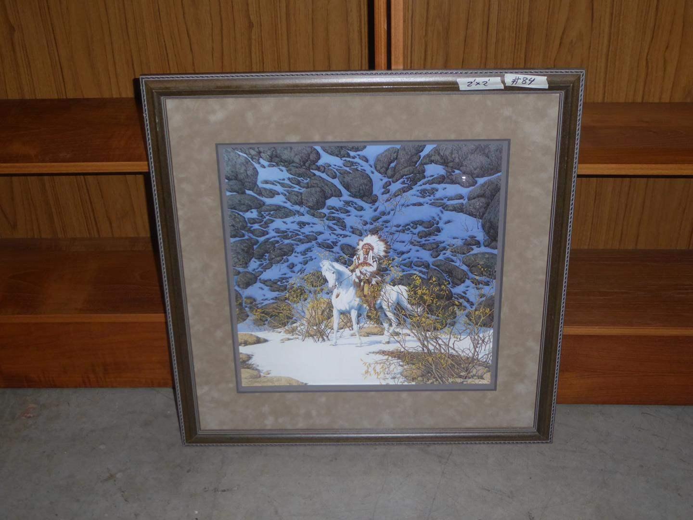 """Lot # 84 - Framed Bev Doolittle Signed Numbered Print """"Eagle Heart"""" 24074/48000 (main image)"""