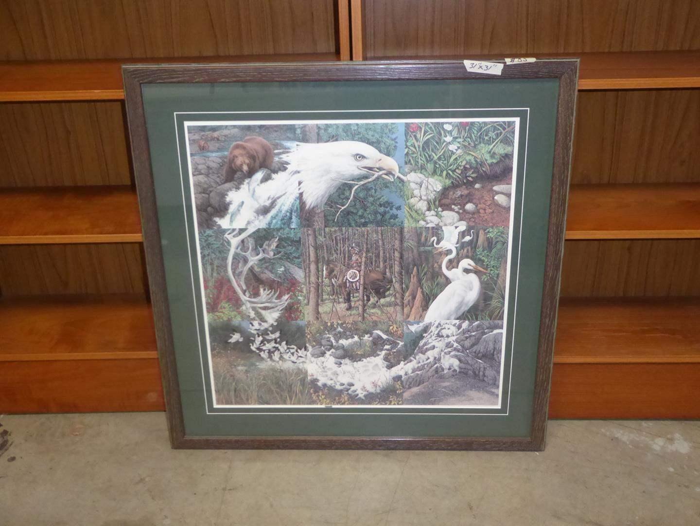 """Lot # 85 - Bev Doolittle Framed Signed Numbered Print """"Sacred Circle"""" 7931/40192 (main image)"""