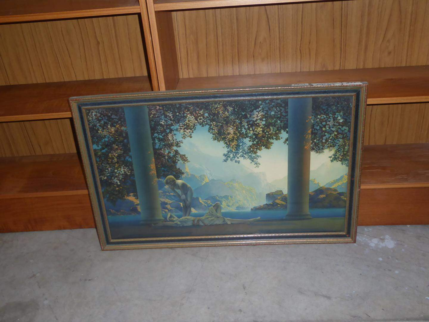 """Lot # 87 - Framed Vintage """"Day Break"""" Print by Maxfield Parrish (main image)"""