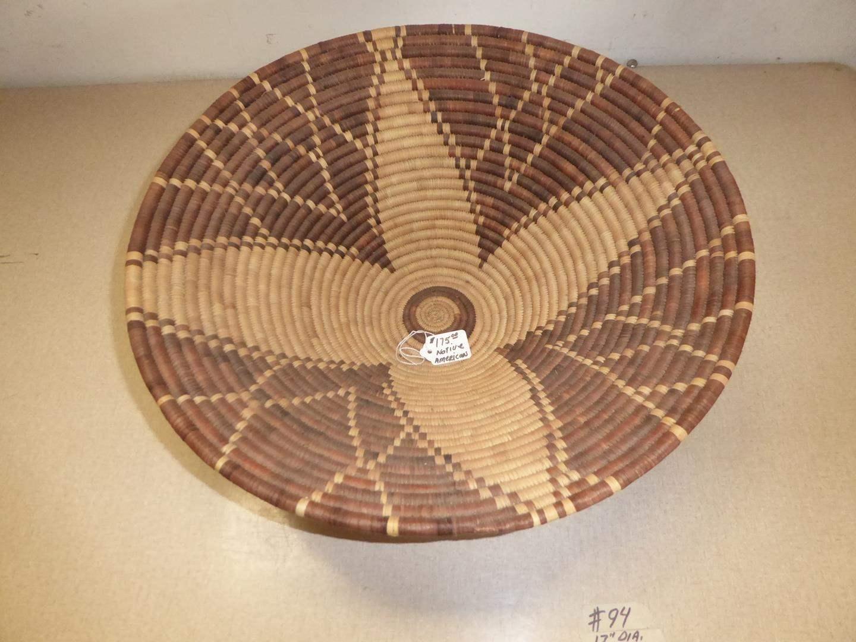Lot # 94 - Large Vintage Native American Basket (main image)