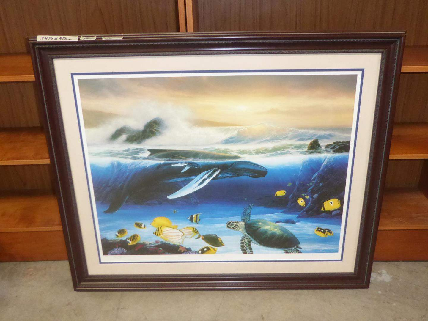 """Lot # 222 - Framed Signed Numbered Print """"Whale Song"""" 254/450 (main image)"""