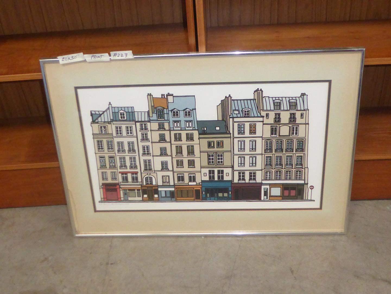 "Lot # 223 - Vintage 1979 Framed Signed Numbered Seriograph ""Paris"" by Stan Beckman 10/75 (main image)"