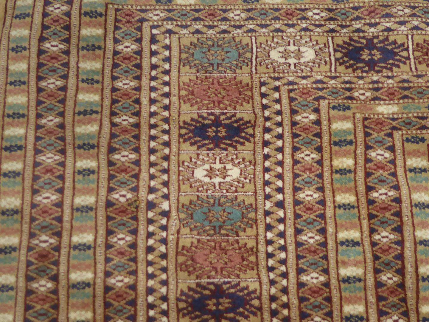 Lot # 224 - Large Vintage Genuine Bokhara Hand Woven Wool Oriental Rug Very High Quality  (main image)