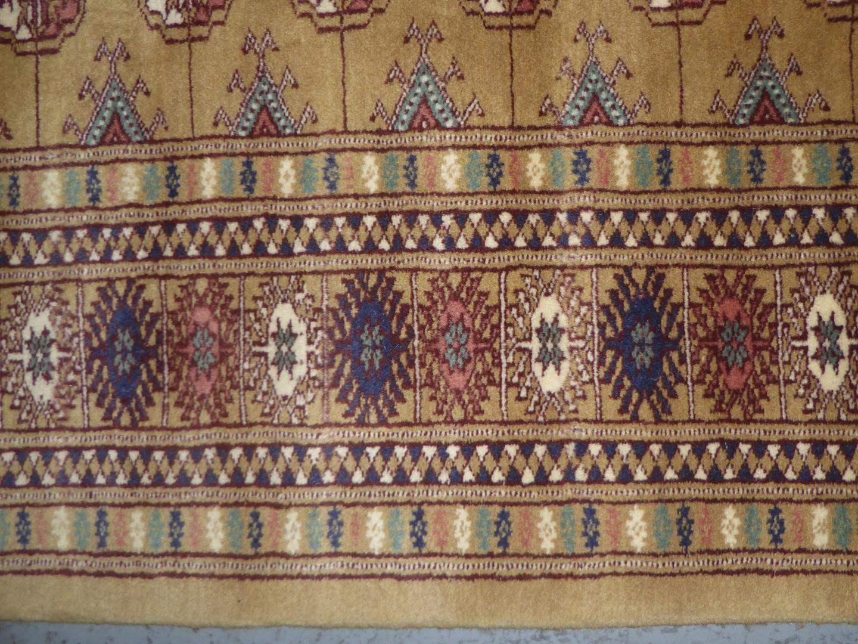 Lot # 225 - Vintage Genuine Bokhara Hand Woven Wool Oriental Rug (main image)