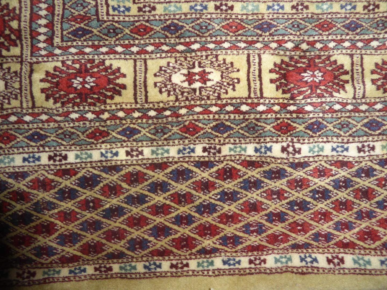 Lot # 227 - Vintage Genuine Bokhara Hand Woven Wool Oriental Rug (main image)