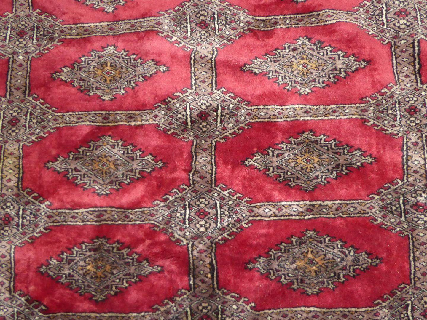 Lot # 231 - Large Vintage Genuine Hand Woven Wool Oriental Rug  (main image)
