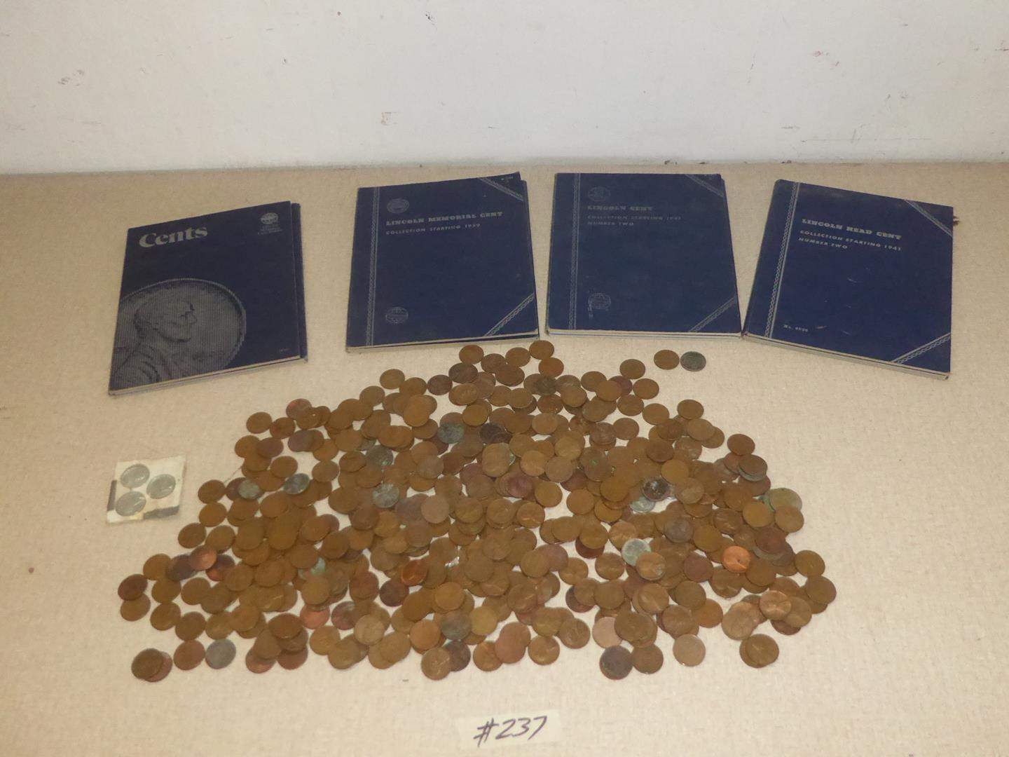Lot # 237 - Vintage Lincoln Head Wheat Pennies Collection (main image)