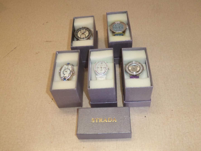 Lot # 243 - Five Strada Wristwatches (NIB) (main image)