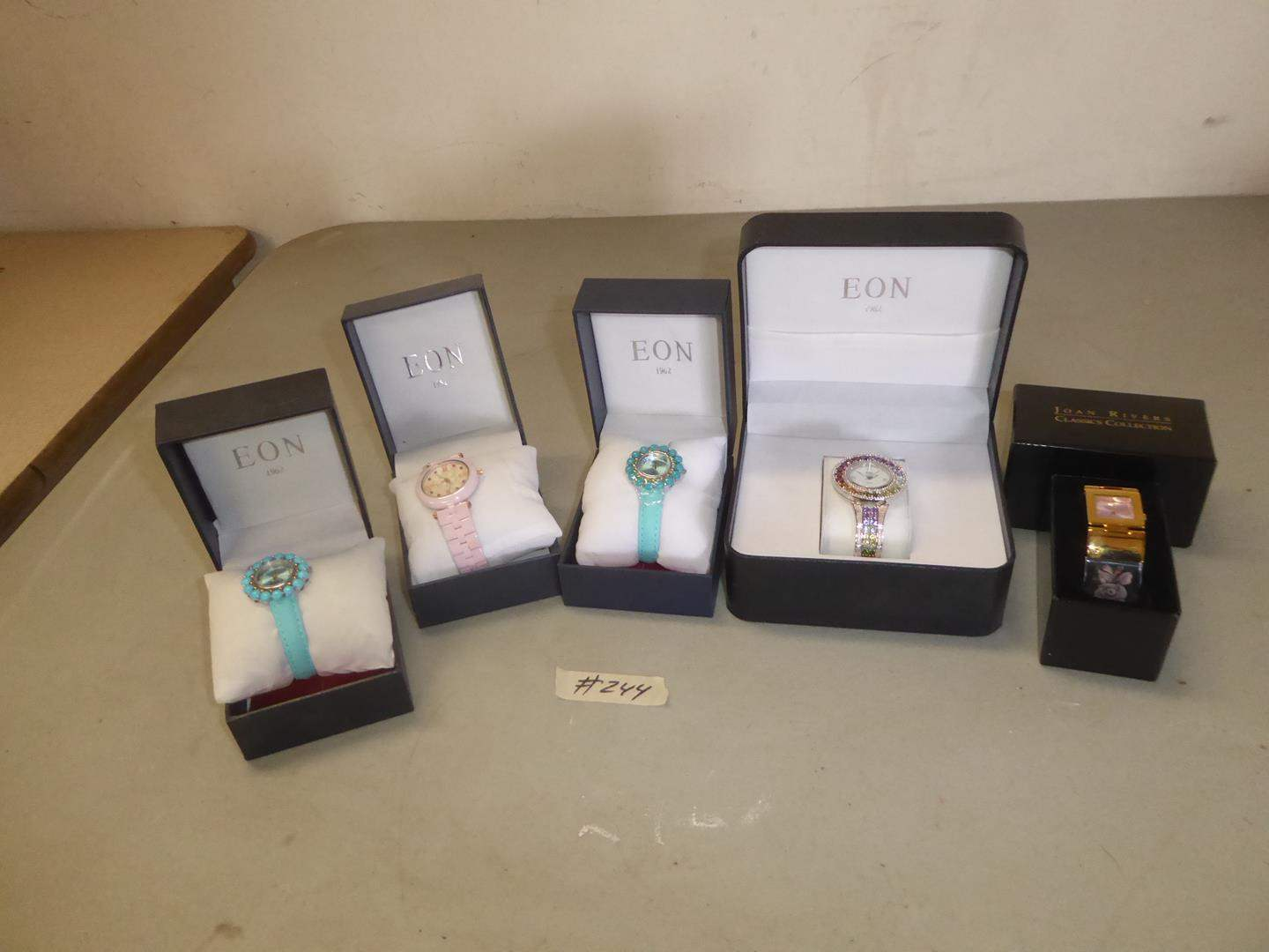 Lot # 244 - Four Eon Ladies Wristwatches & One Joan Rivers Ladies Wristwatch (NIB) (main image)