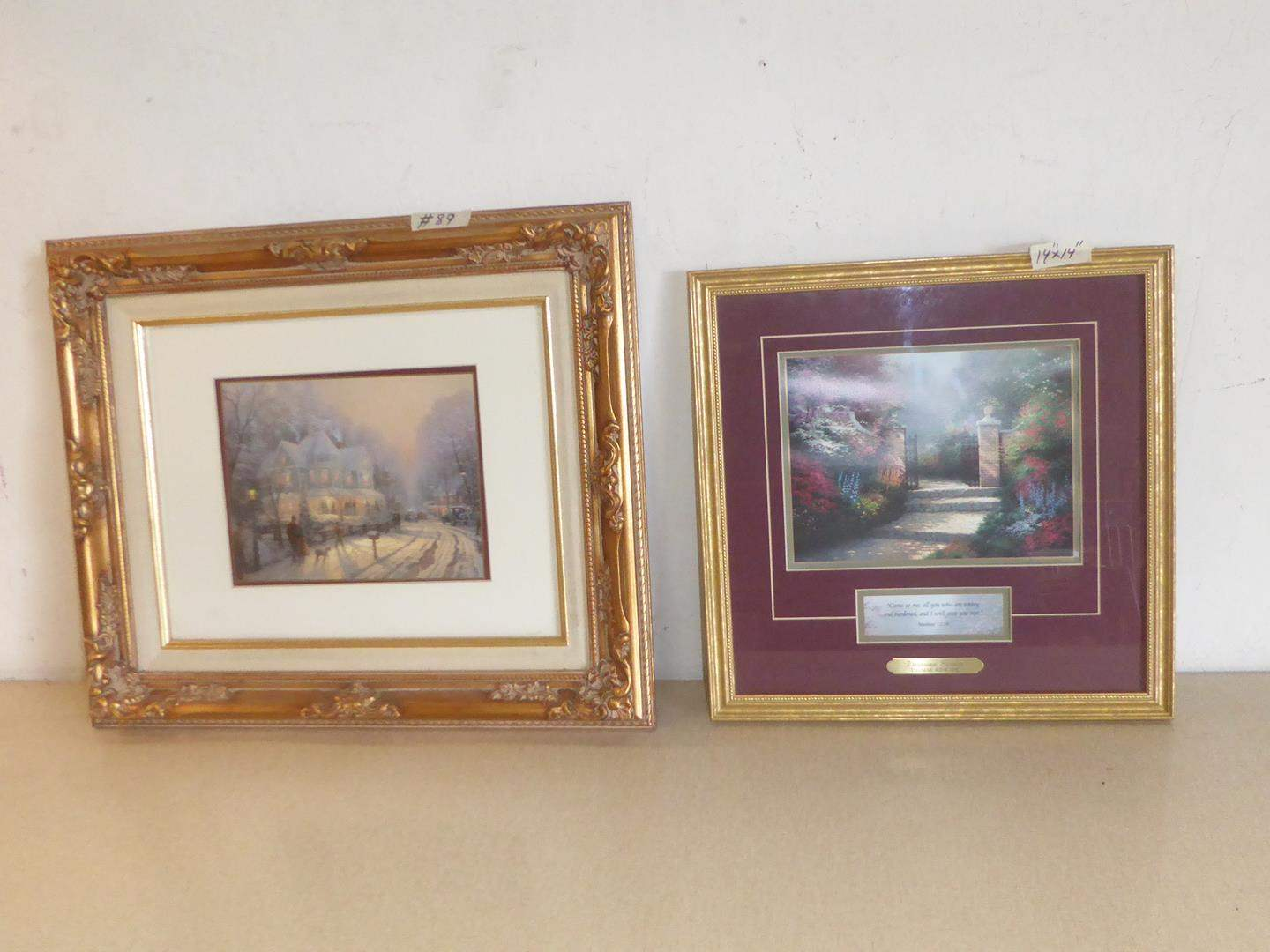 Lot # 89 - Two Beautifully Framed Thomas Kinkade Limited Edition Prints (main image)