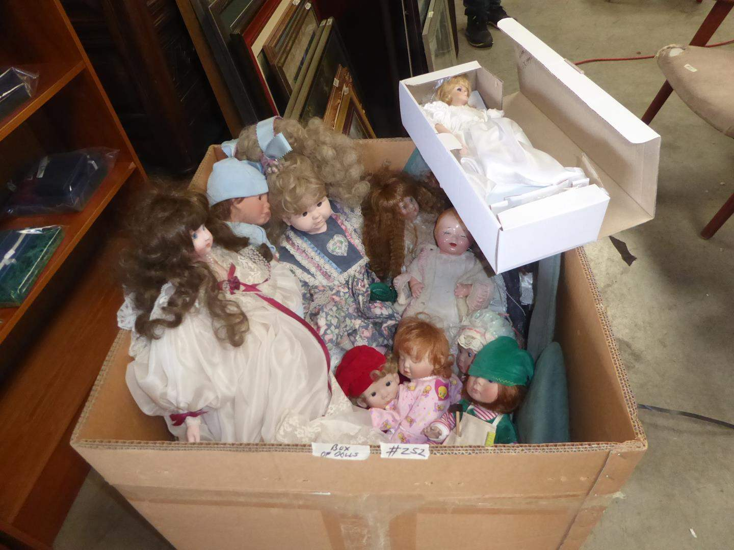 Lot # 252 - Big Box of Assorted Dolls (main image)