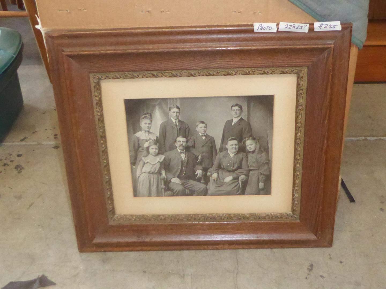 Lot # 255 - Framed  Antique Family Photo (main image)