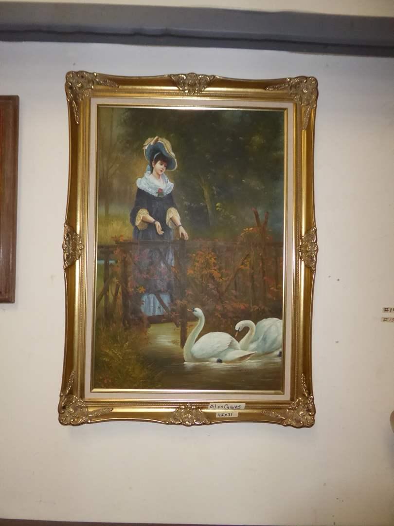 Lot # 22 - Framed Oil On Canvas  (main image)