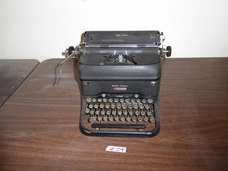 Lot # 29 - Vintage Smith-Corona Typewriter  (main image)