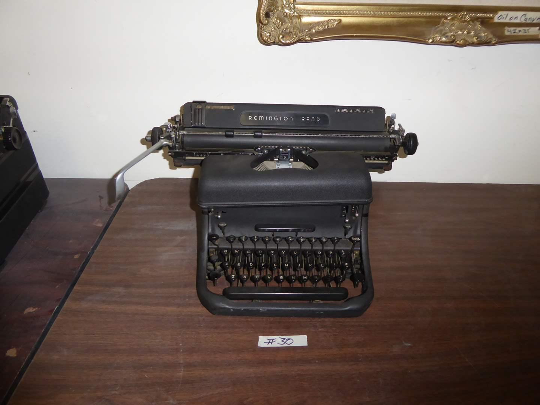 Lot # 30 - Vintage Remington Rand Typewriter  (main image)