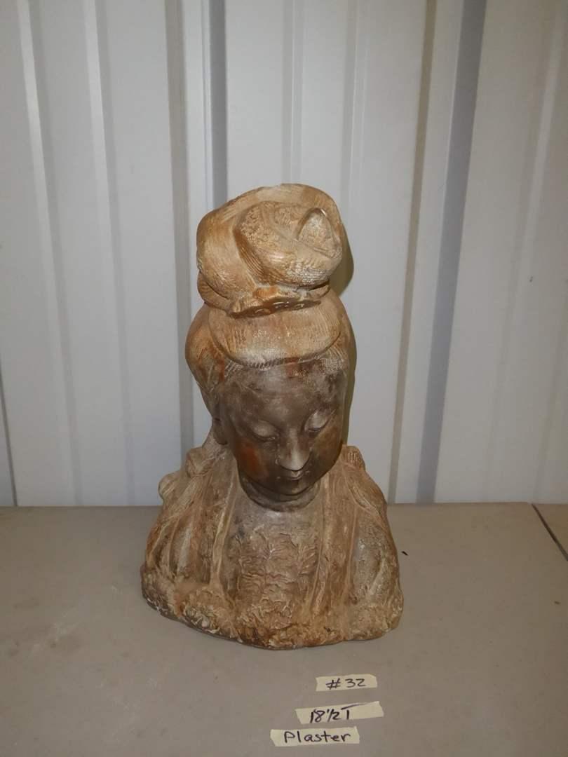 Lot # 32 - Lovely Plaster Figurine  (main image)