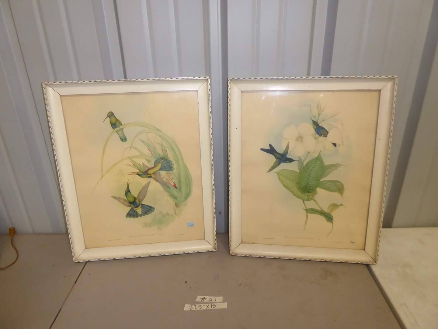 Lot # 37 - Two 1940's Framed Colored Prints  (main image)