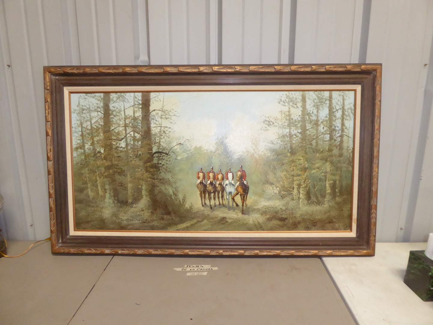 Lot # 40 - Framed Signed Oil On Canvas (main image)