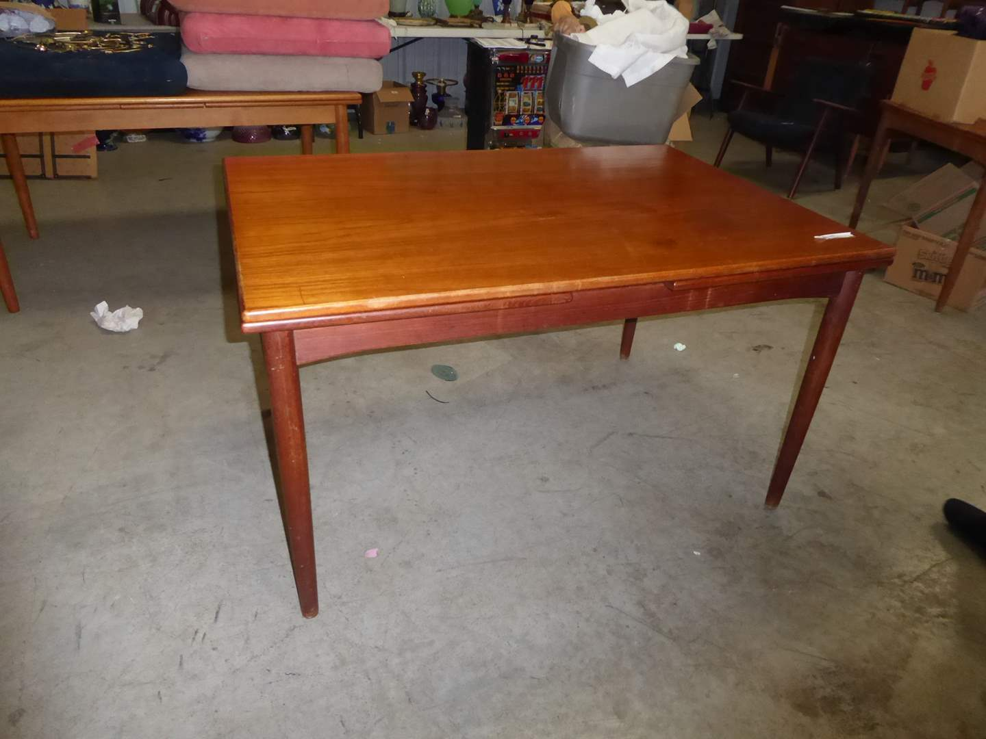 "Lot # 43 - Mid-Century ""Borge Mogensen"" Expandable Teak Table (Chairs Sold Separately in Lot 86) (main image)"