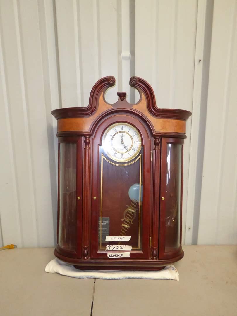 Lot # 45 - Battery Powered Hanging Wall Clock  (main image)