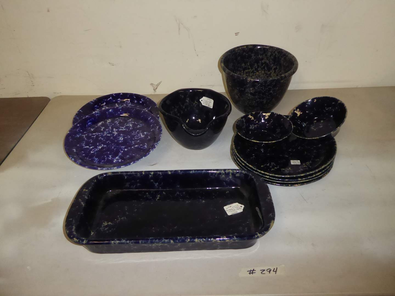 Lot # 294 - Bennington Spongeware Art Pottery  (main image)
