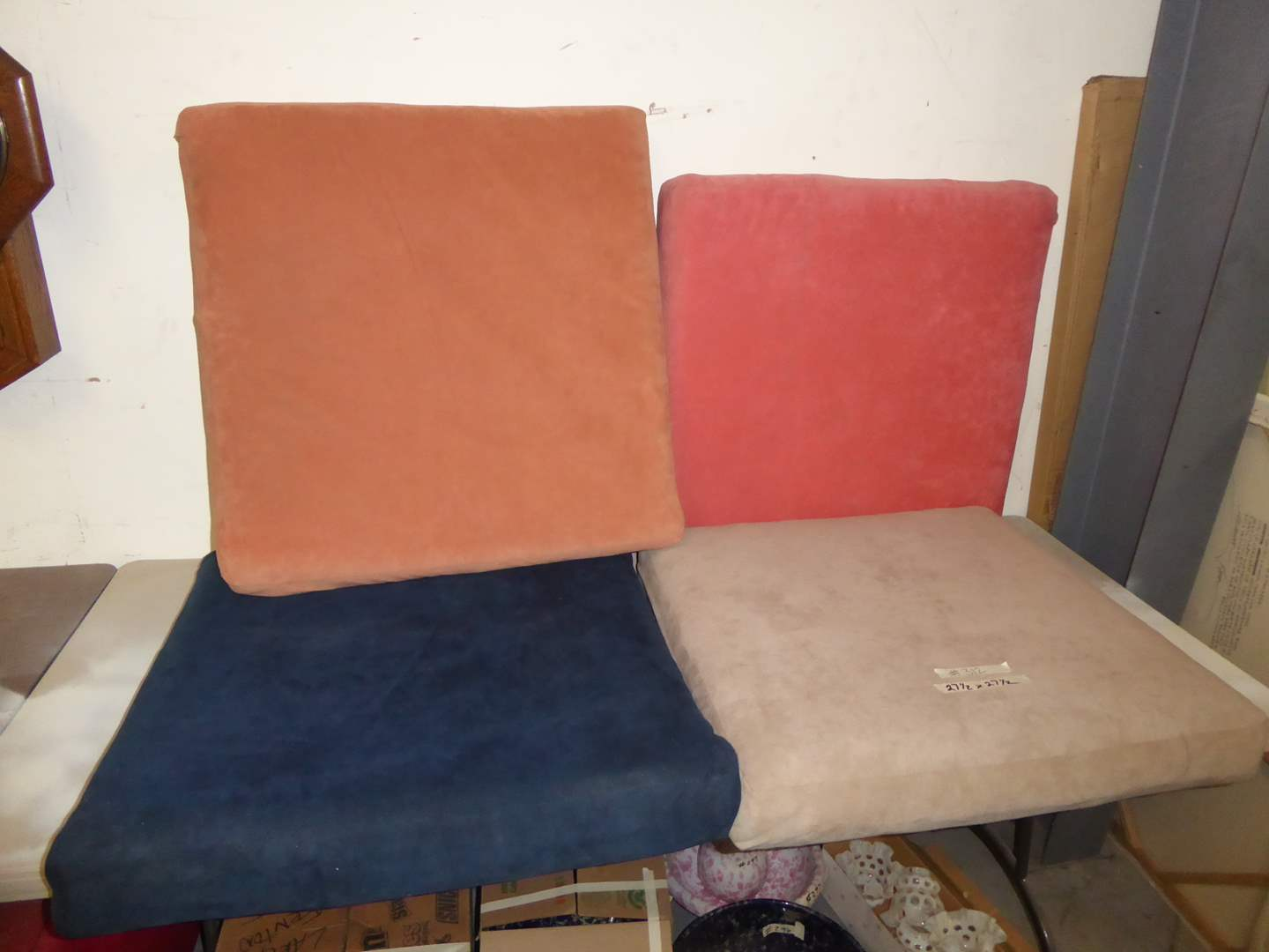 Lot # 312 - Four Large Mid-Century Modern Couch Cushions  (main image)